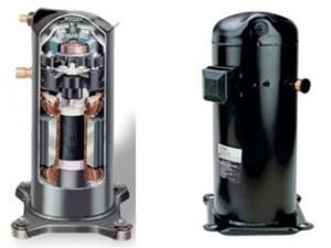Exemplo de compressor scroll. Fonte: webarcondicionado.com.br.